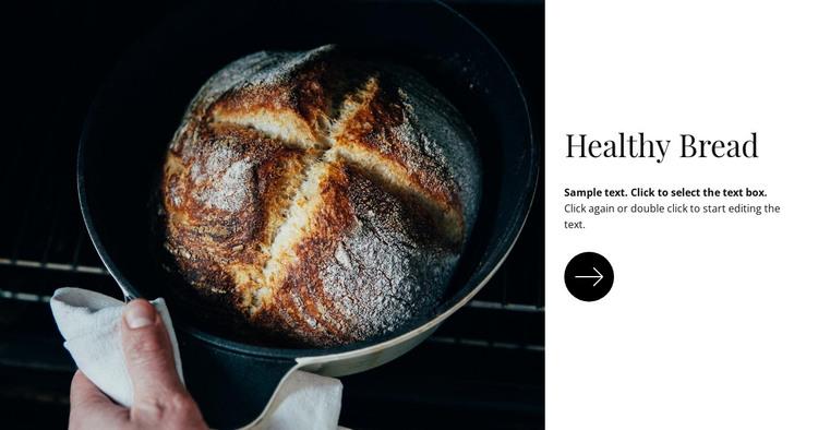 Healthy bread HTML Template