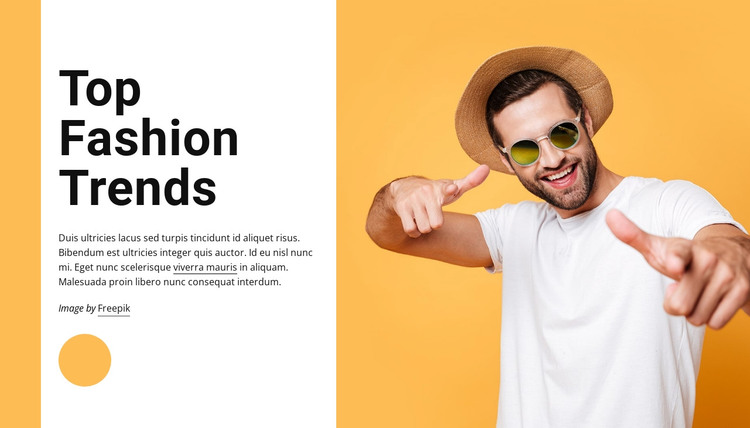 Top fashion trends HTML Template