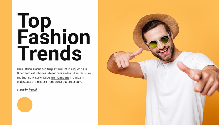 Top fashion trends Web Page Designer