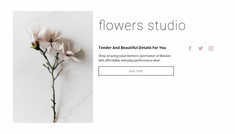 Flowers salon  Website Template