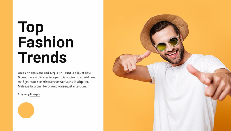 Top fashion trends Website Template