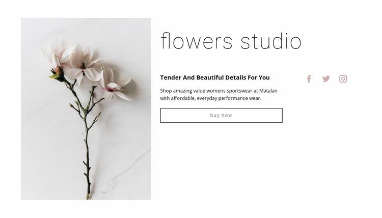 Flowers salon  WordPress Website Builder