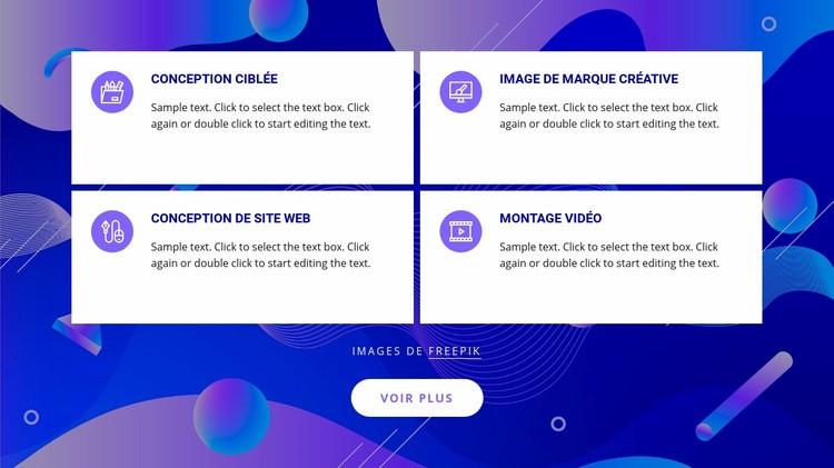Services de studio de design Modèle de site Web