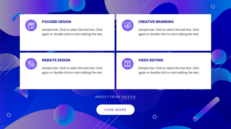 Design studio services One Page Template