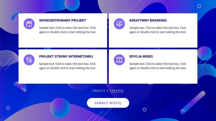 Usługi studia projektowego Szablon witryny sieci Web