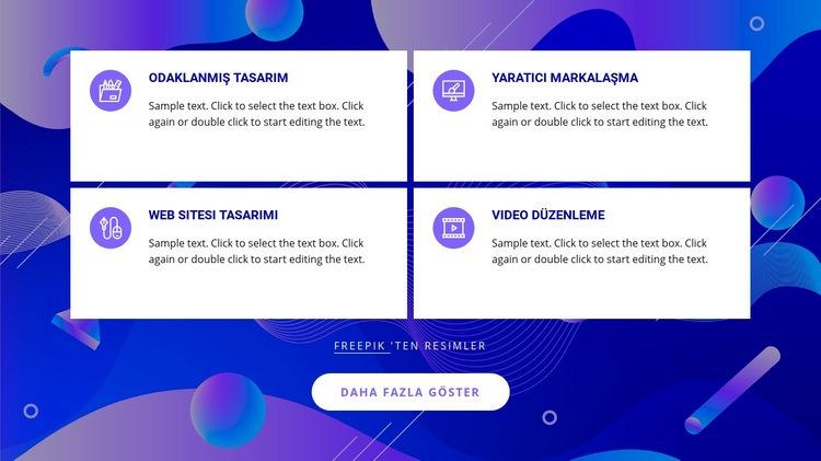 Tasarım stüdyo hizmetleri Web Sitesi Şablonu