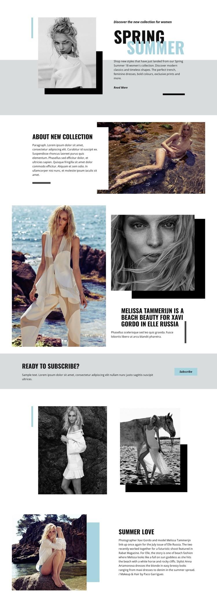 Beach Fashion CSS Template