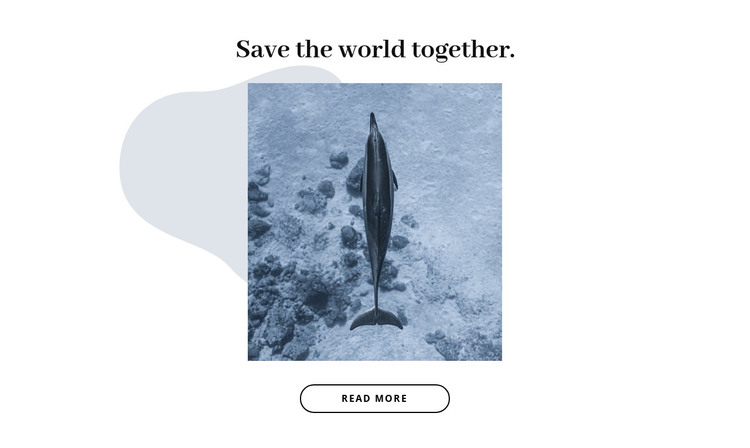 Save ocean together HTML Template