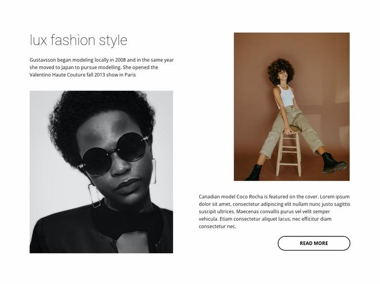 Lux fashion style Html Website Builder