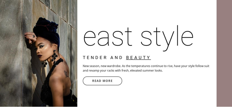 East style HTML5 Template