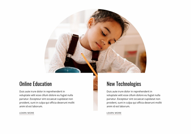 Child education Web Page Design