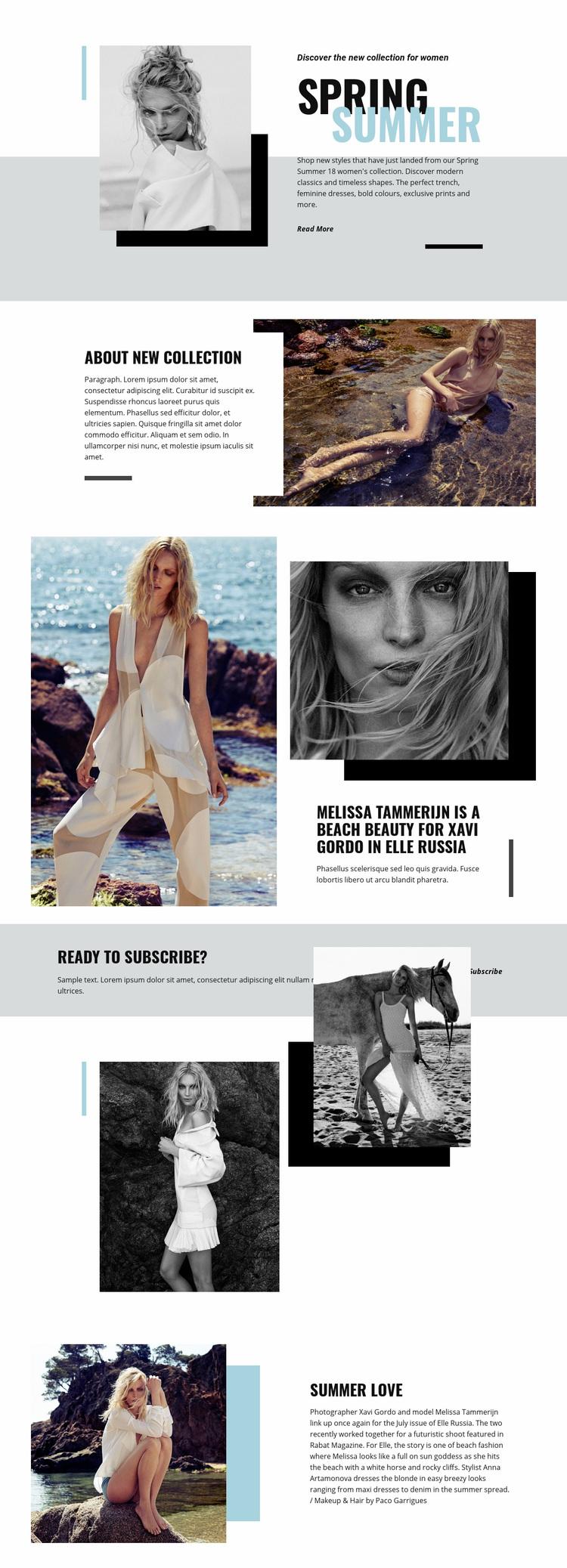 Beach Fashion Web Page Designer
