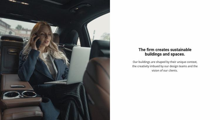 Business woman Website Builder