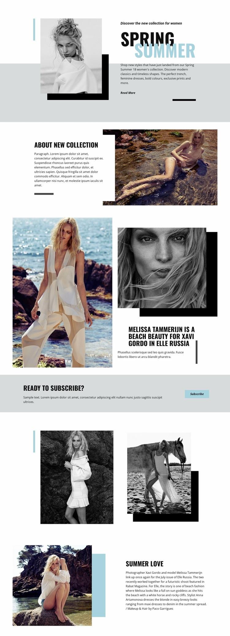 Beach Fashion Website Design