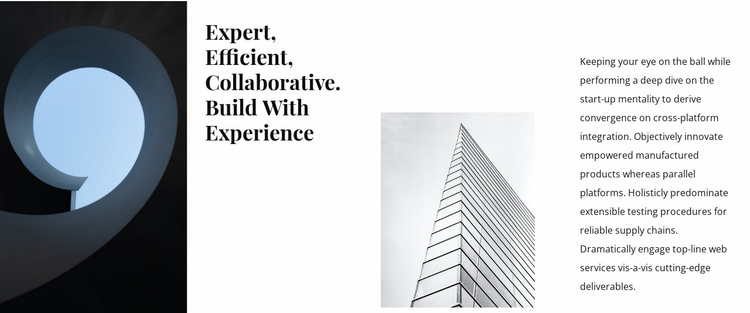 Architecture building agency Website Template