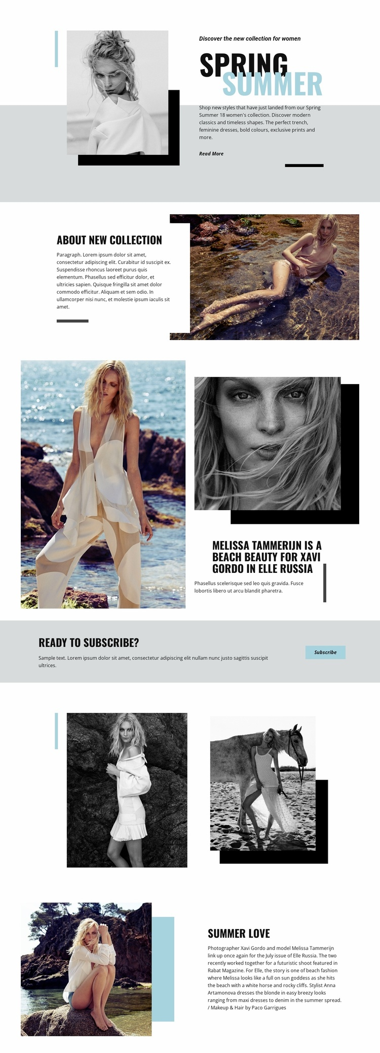 Beach Fashion Landing Page