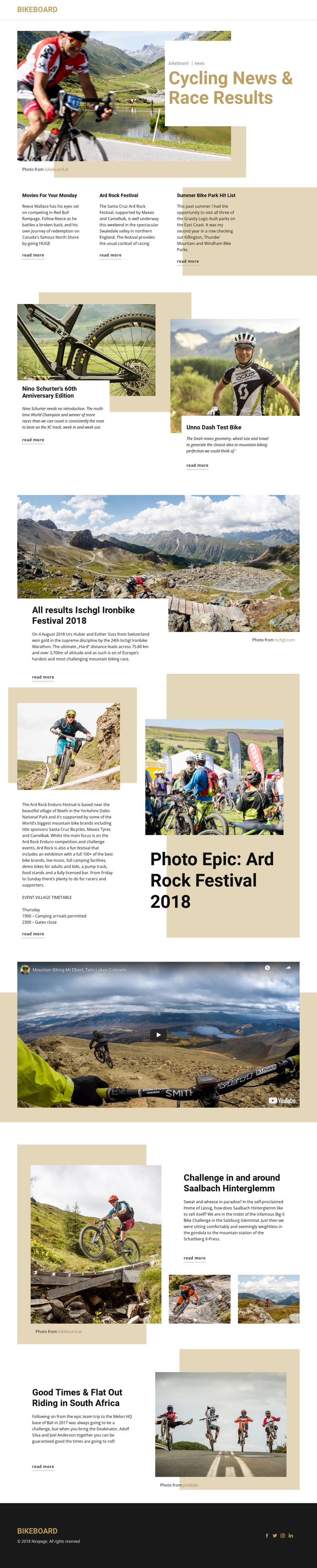 Cycling News HTML Template