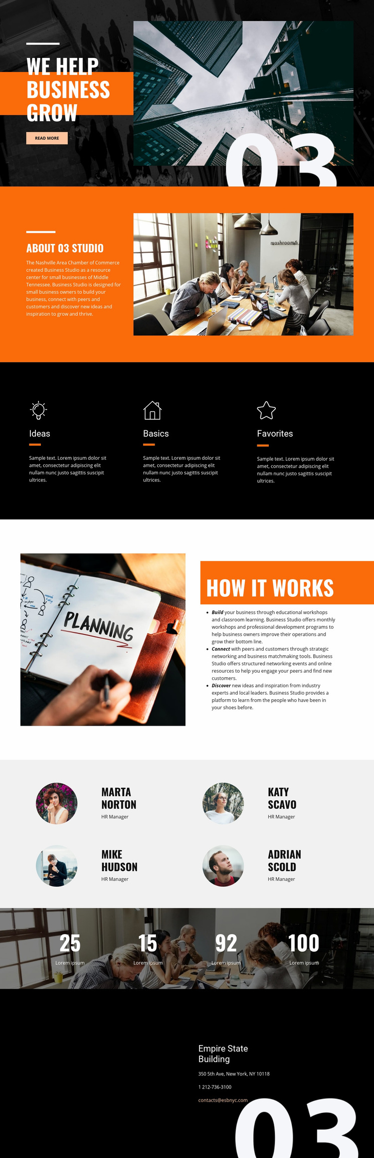 Business Grow Web Page Design