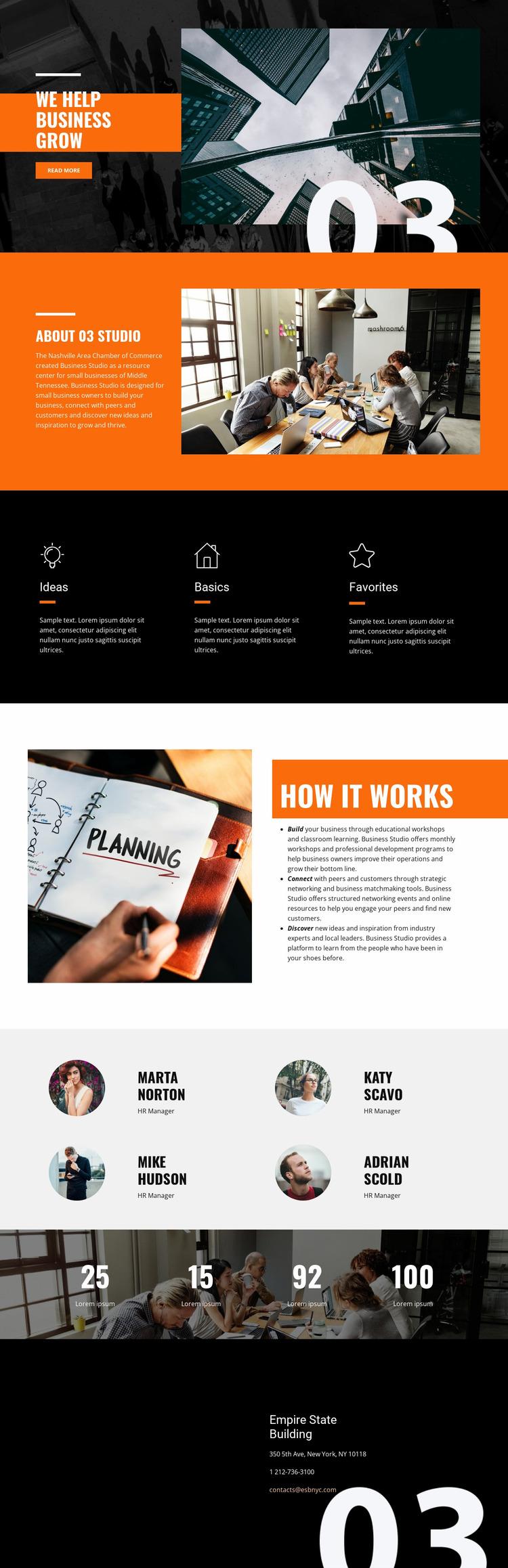 Business Grow Website Mockup