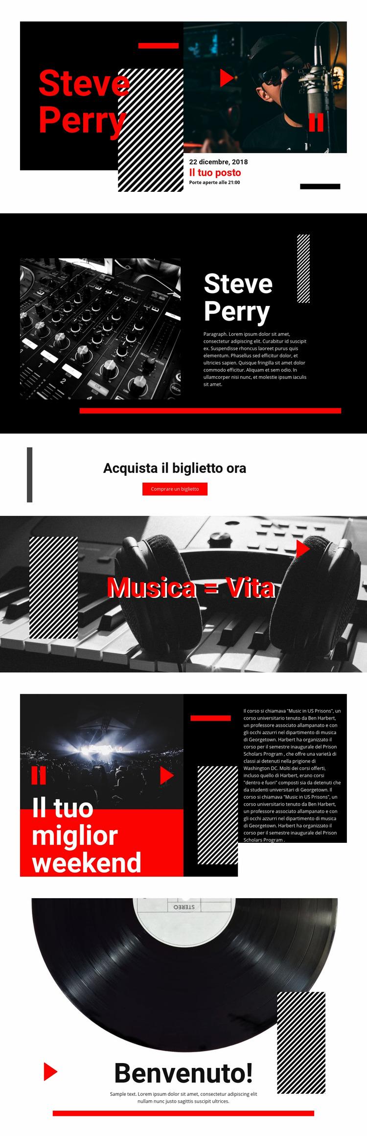 La migliore musica di qualità Modello Joomla