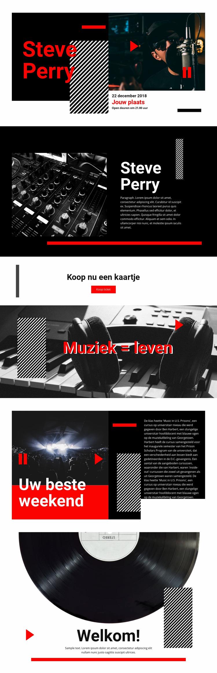 Muziek van de beste kwaliteit Joomla Sjabloon