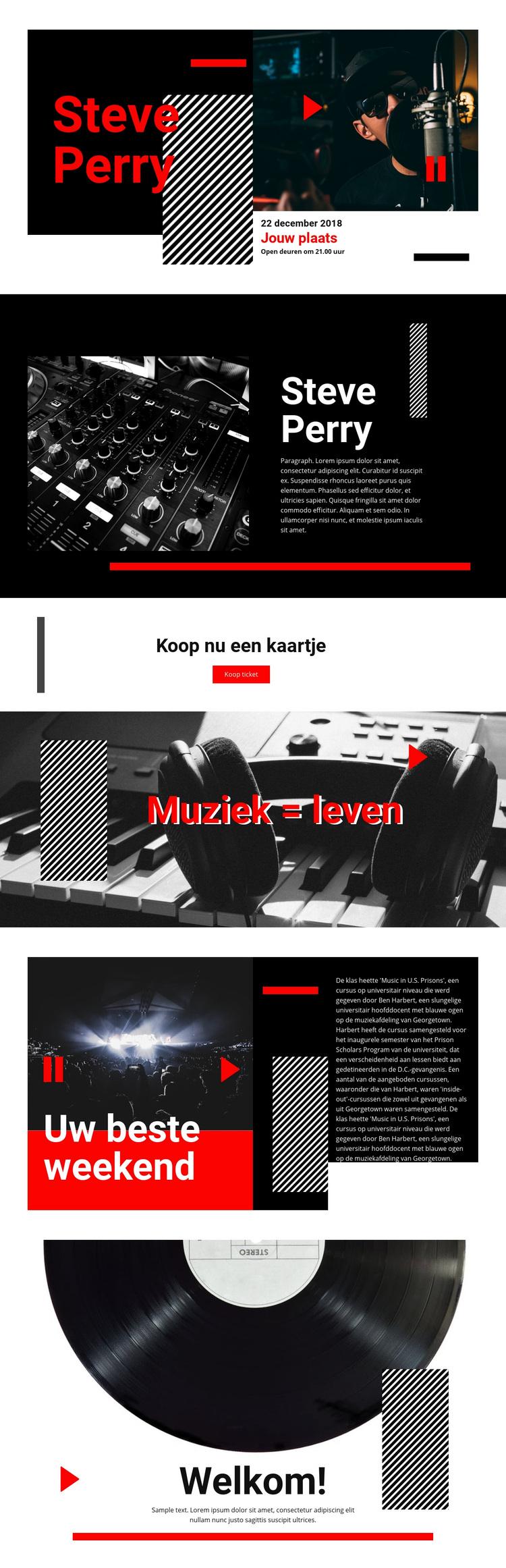 Muziek van de beste kwaliteit WordPress-thema