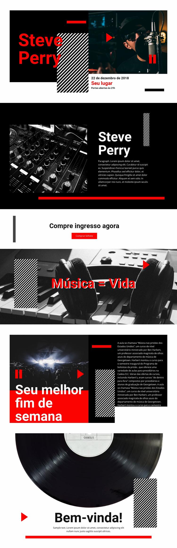 Musica de melhor qualidade Template Joomla