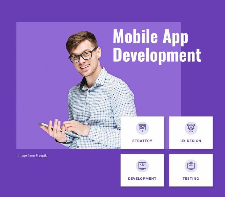 Mobile app development studio Html Code Example