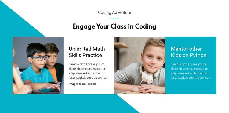 Python for kids HTML Template