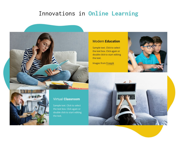 Online learning HTML Template