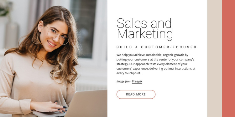 Sales and marketing HTML Template