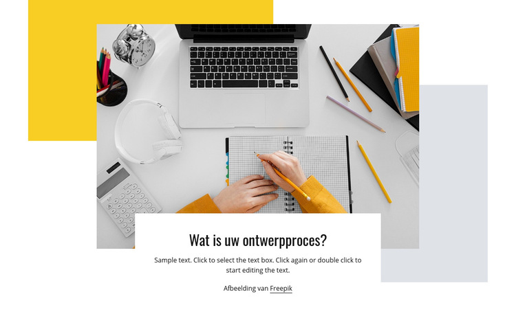 Ontwerpproces Website sjabloon