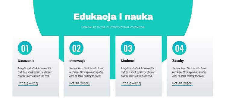 Edukacja i nauka Szablon witryny sieci Web
