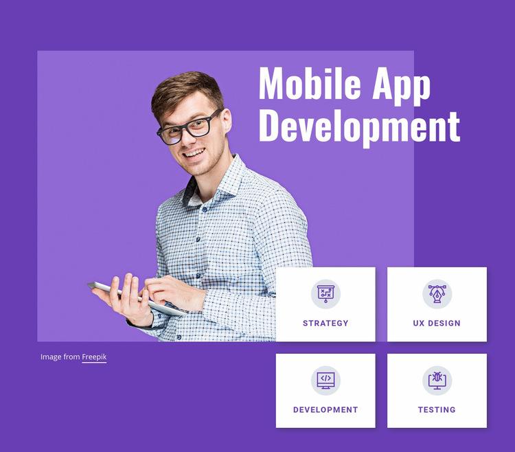 Mobile app development studio Web Page Design