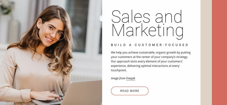 Sales and marketing Web Page Designer