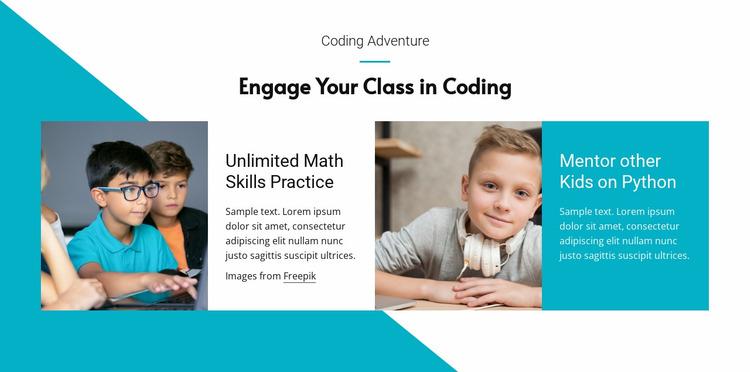 Python for kids Website Mockup