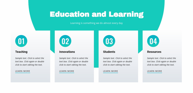 Education and learning Website Mockup