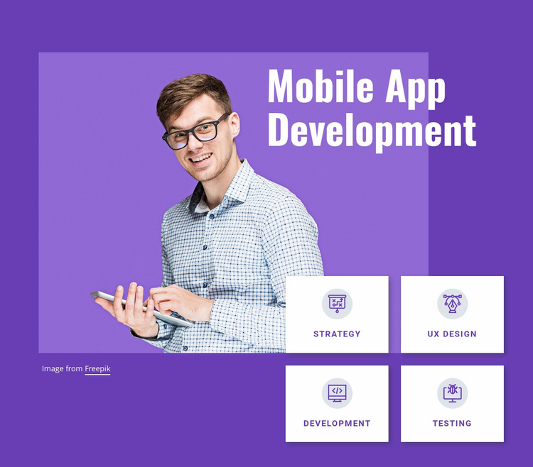 Mobile app development studio Website Mockup