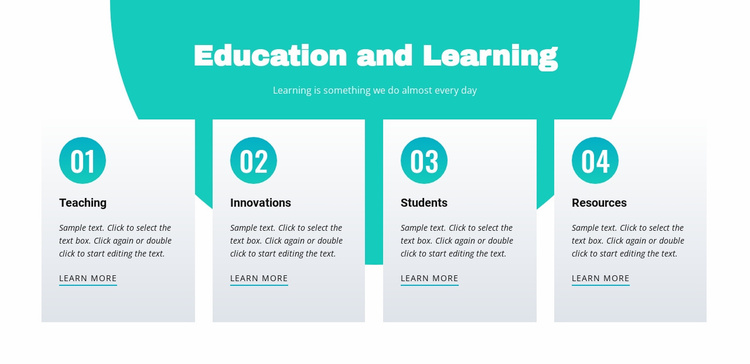Education and learning Landing Page