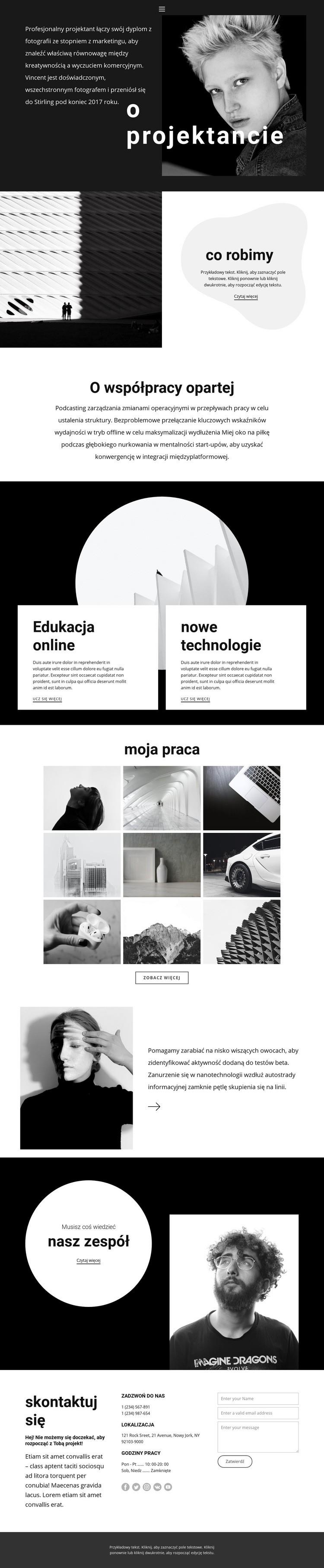 Najbardziej kreatywna agencja Szablon witryny sieci Web