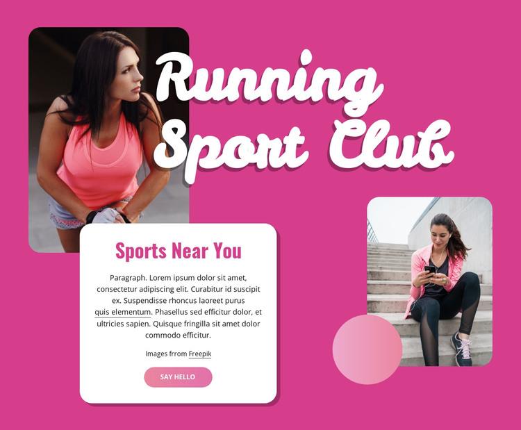 Running sport club HTML Template