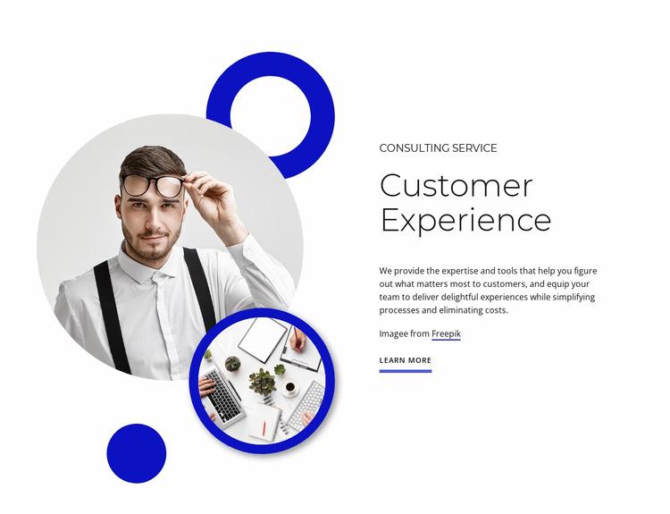 Customer experience Html Website Builder