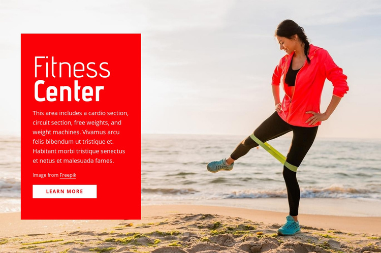 Workout and exercise classes Website Template