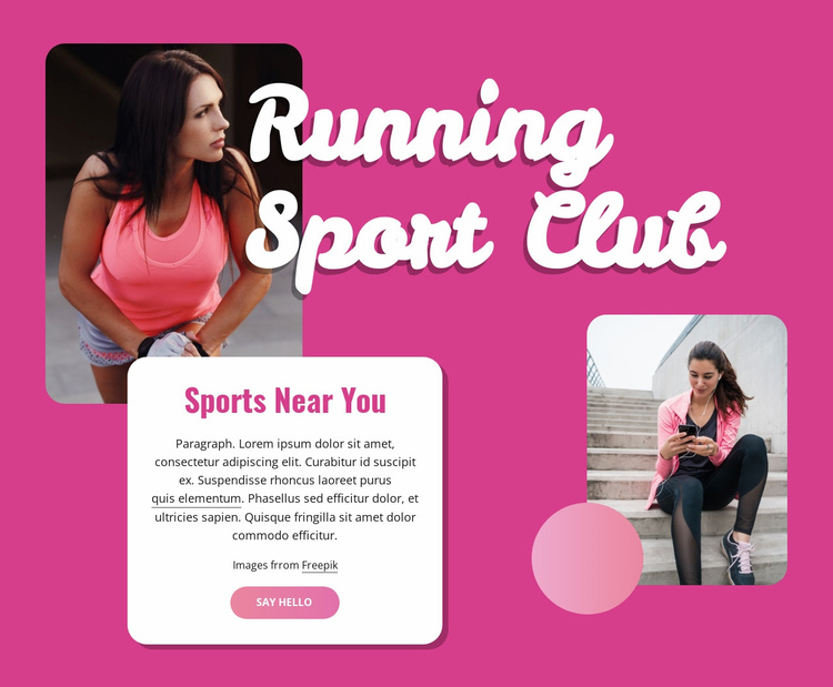 Virtual running club Website Template