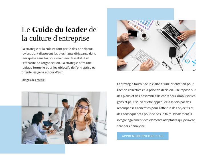 Le guide du leader Modèle de site Web