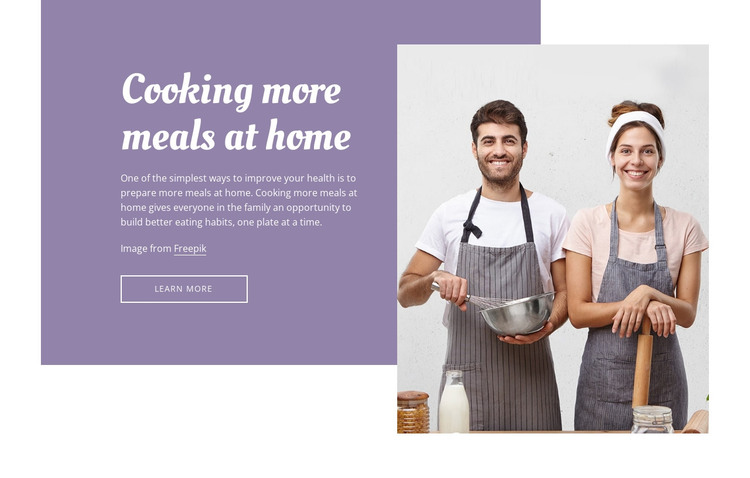 Cooking at home HTML Template