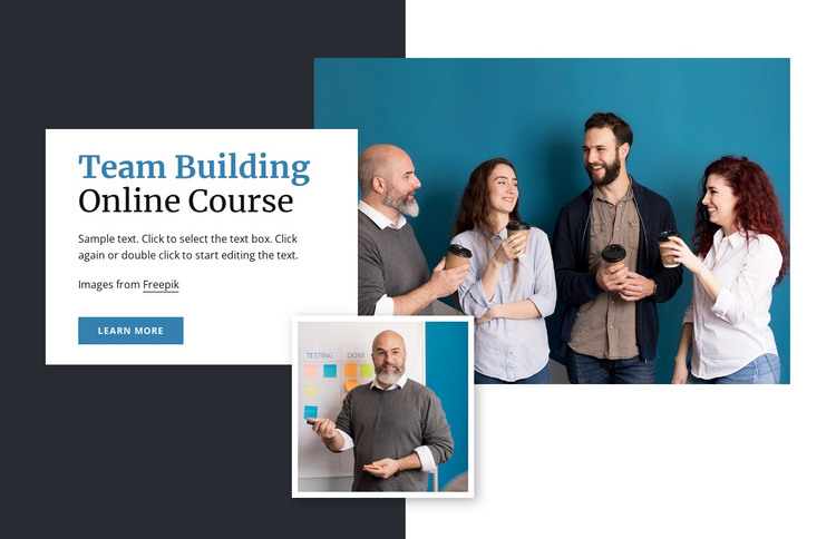 Team building online courses HTML Template