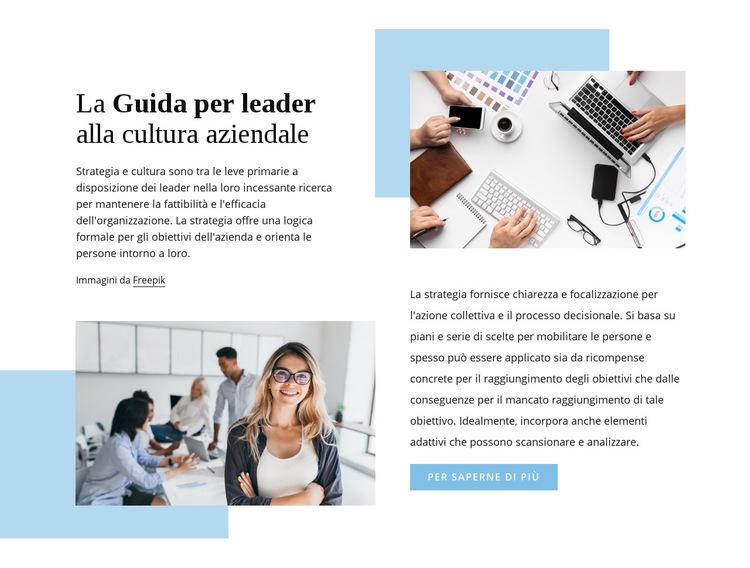 La guida del leader Modello di sito Web