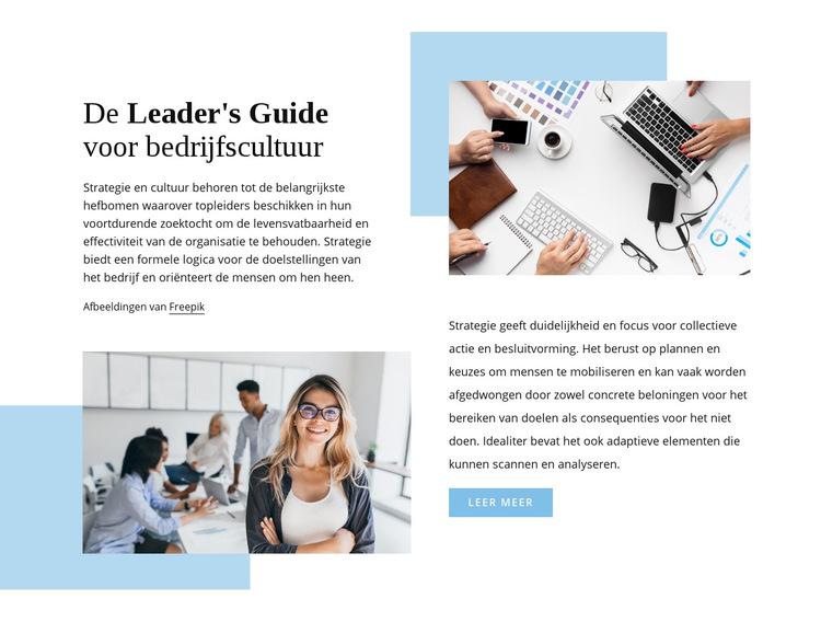 De gids van de leider Website sjabloon