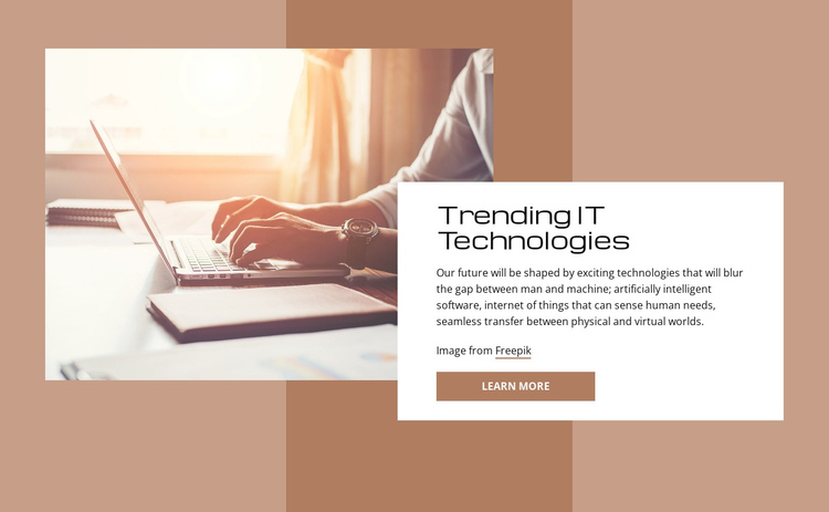 Trending IT technologies One Page Template